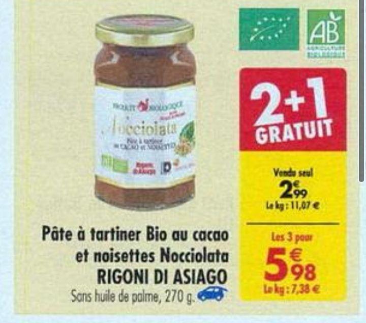 Lot de 3 pots de pâte à tartiner Bio Nocciolata - 270g