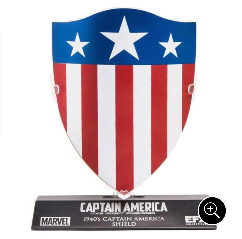 Réplique Bouclier Marvel Captain America 1/6 1940 - 10cm