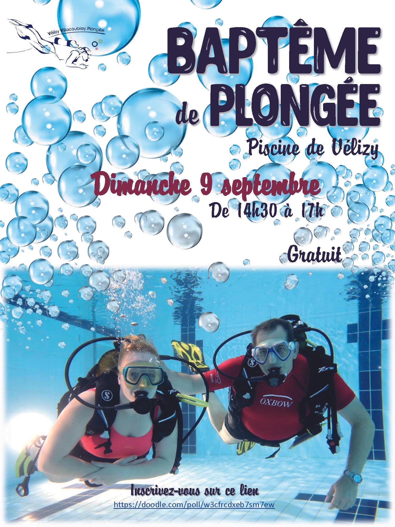 Baptême de plongée gratuit - Piscine de Vélizy Villacoublay (78)
