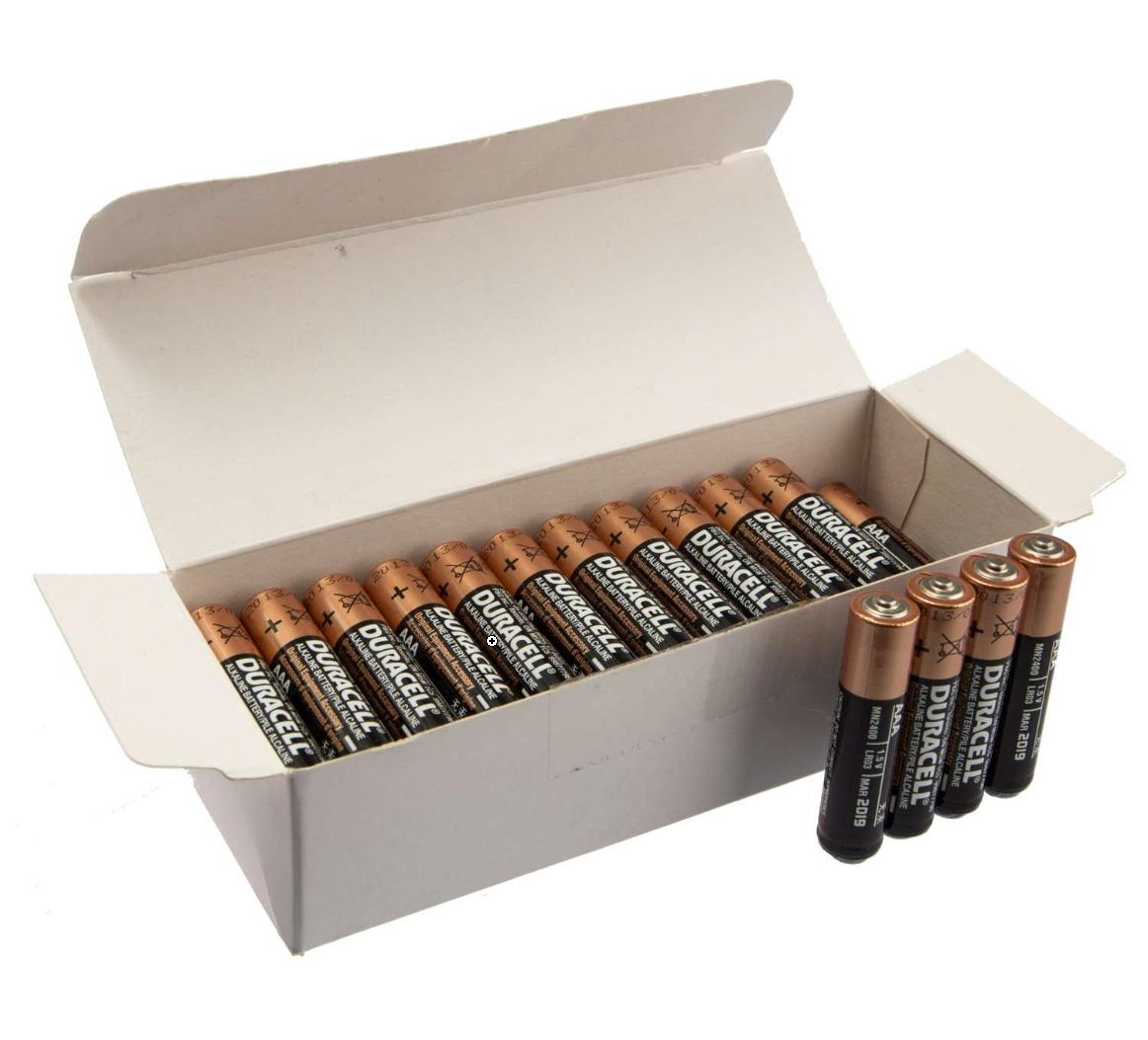 Lot de 40 Piles Alcalines AAA LR03 Duracell MN2400 High Power