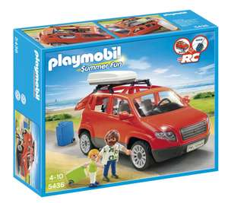 Figurine Playmobil Voiture avec coffre de toit - 5436
