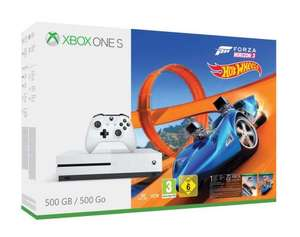 Pack Console Xbox One S (Blanc) - 500 GO + Forza Horizon 3 + DLC Hot Wheels (Frontaliers Suisse)