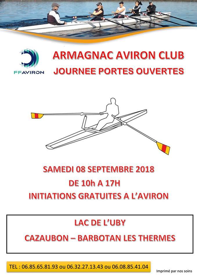 Initiation Gratuite à l'Aviron avec  Armagnac Aviron Club - Lac de l'Uby Cazaubon Barbotan-les-Thermes (32)