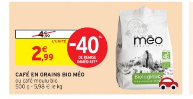 Paquet de Café Méo Bio en Grains ou Moulu - 500g
