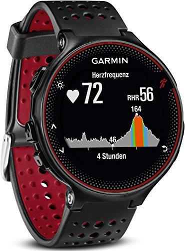 Montre GPS Garmin Forerunner 235 WHR avec Cardio - Noir/Rouge