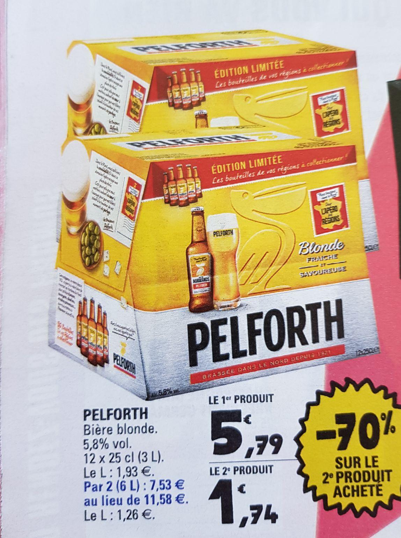 Sélection de Pack de Bières en promotion - Ex : Lot de 2 packs de 12 bières blondes Pelfort - 24x25cl - Aussonne (82)