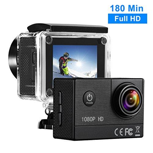 Caméra Sportive Topelek - Étanche, 1080p, Batterie 1350mAh (vendeur tiers)