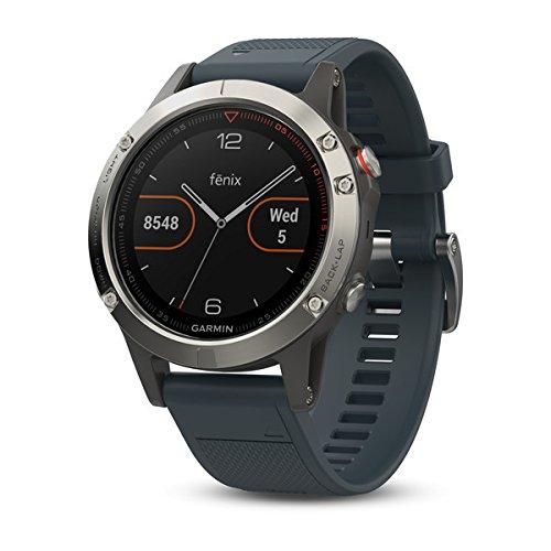 Montre GPS Garmin Fenix 5 avec cardio - Gris, 47mm
