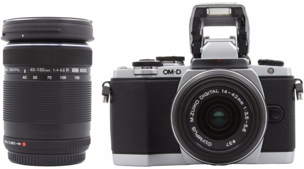 Kit appareil photo hybride Olympus E-M10 Argent + Objectif 14-42mm IIR + 40-150mm (Avec ODR 100€)