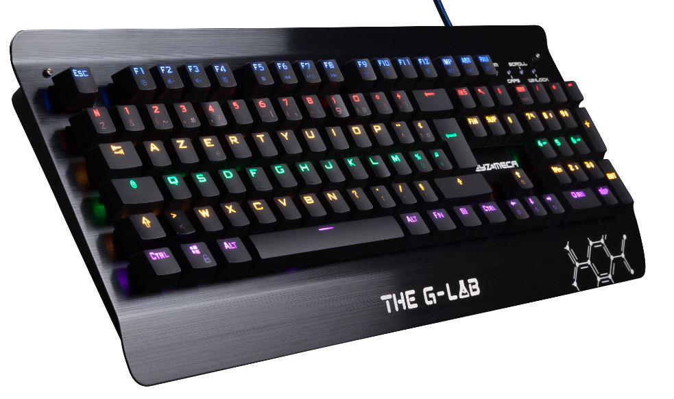 Clavier mécanique The G-Lab G-LAB - RGB, Switch bleu