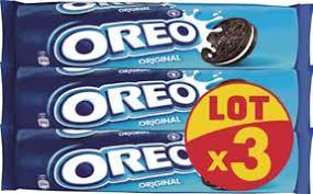 Lot de 12 paquets Oreo - 12x154g (via 10.80€ ODR + 8.64€ en bon d'achat) + Bloc Rhodia 74x105 160p (via 0.24€ sur la carte fidélité)