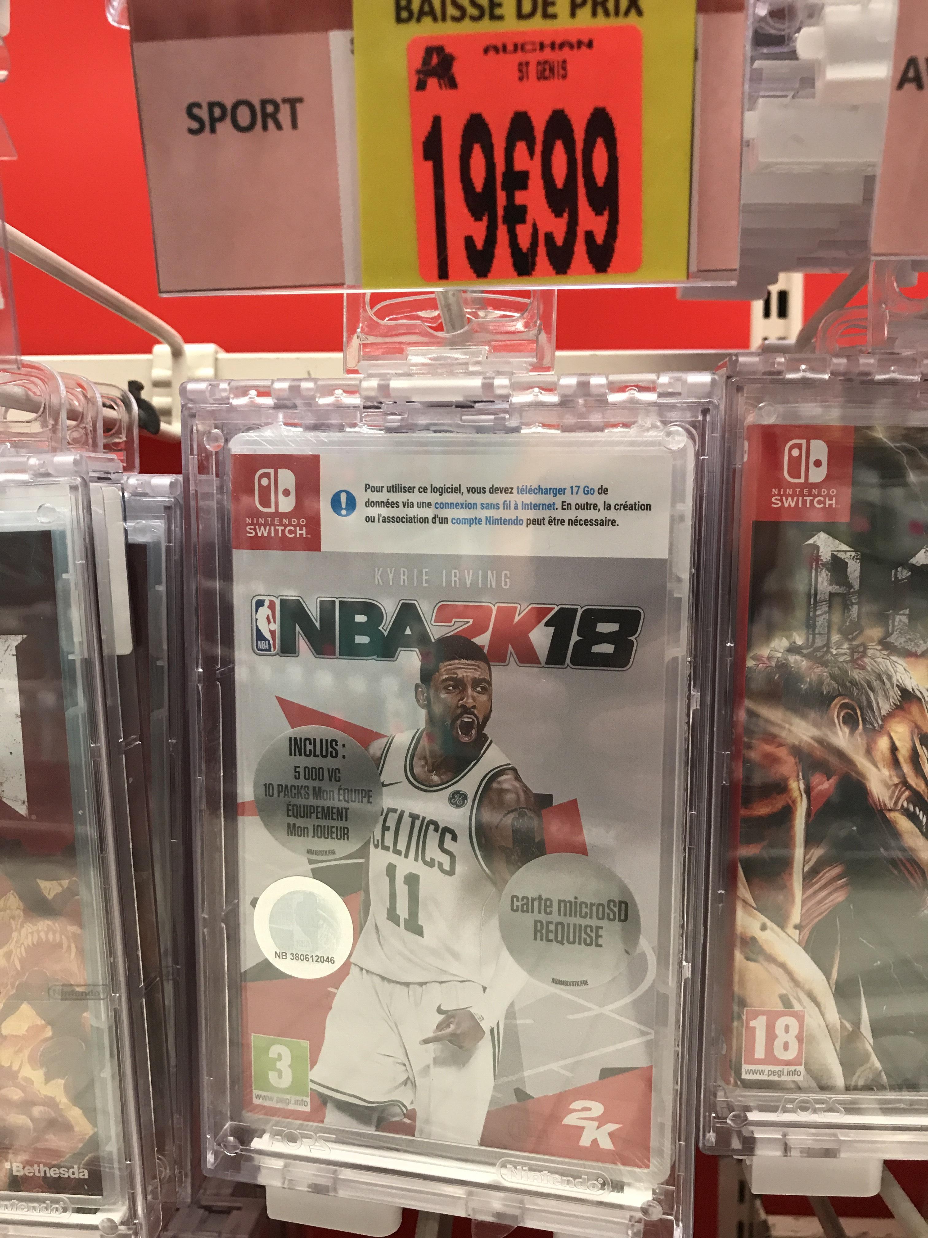 NBA 2k18 sur Nintendo Switch - Saint Genis Laval (69)
