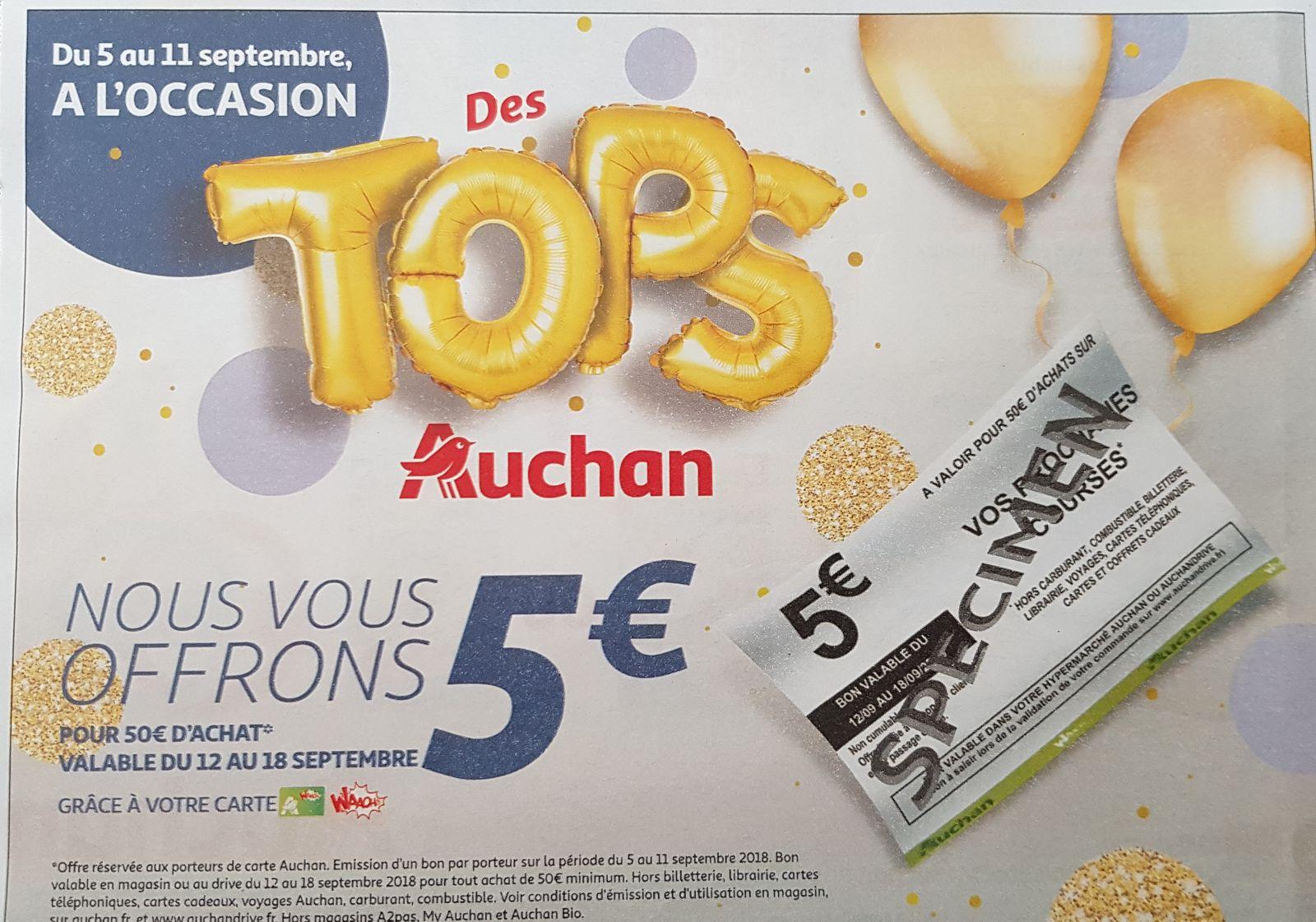 [Carte fidélité] 5€ offerts en bon d'achat dès 50€ d'achats.