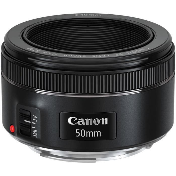 Objectif Canon EF 50MM F/1.8 STM - Pour capteur plein format
