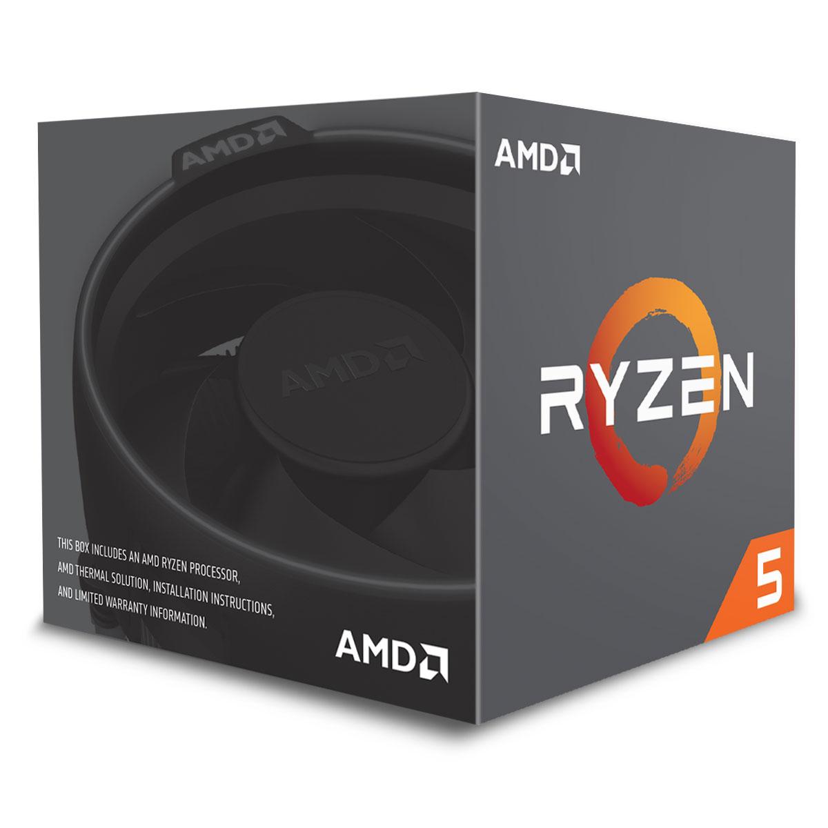 (148,75€ avec le code FOU) Processeur AMD Ryzen 5 2600 Wraith Stealth Edition - 3.4 GHz