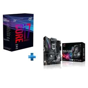 Kit processeur Intel Core I7 8700K + Carte mère Asus Strix Z370-F