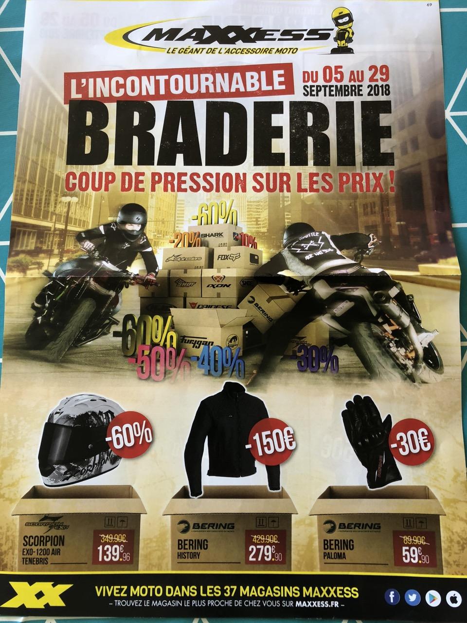 Sélection d'articles en promotion  - Ex:  Casque Moto Scorpion Exo 1200 Air (Maxxess)