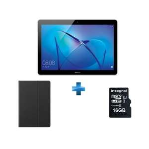 """Tablette Tactile 9,6"""" Huawei MediaPad T3 10 WiFi - RAM 2Go, 16Go, Android 7.0 + Carte mémoire Micro SDHC Ultima Pro - 16Go + Flip Cover"""