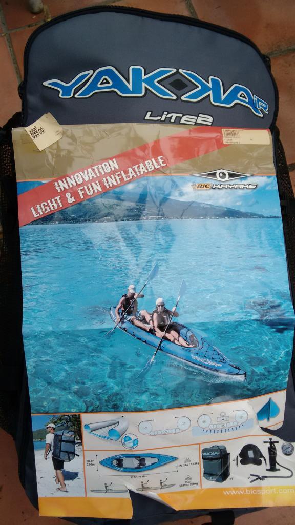 -60% sur une sélection de Kayaks gonflables - Ex : Bic Sport Yakkair Lite 2 places