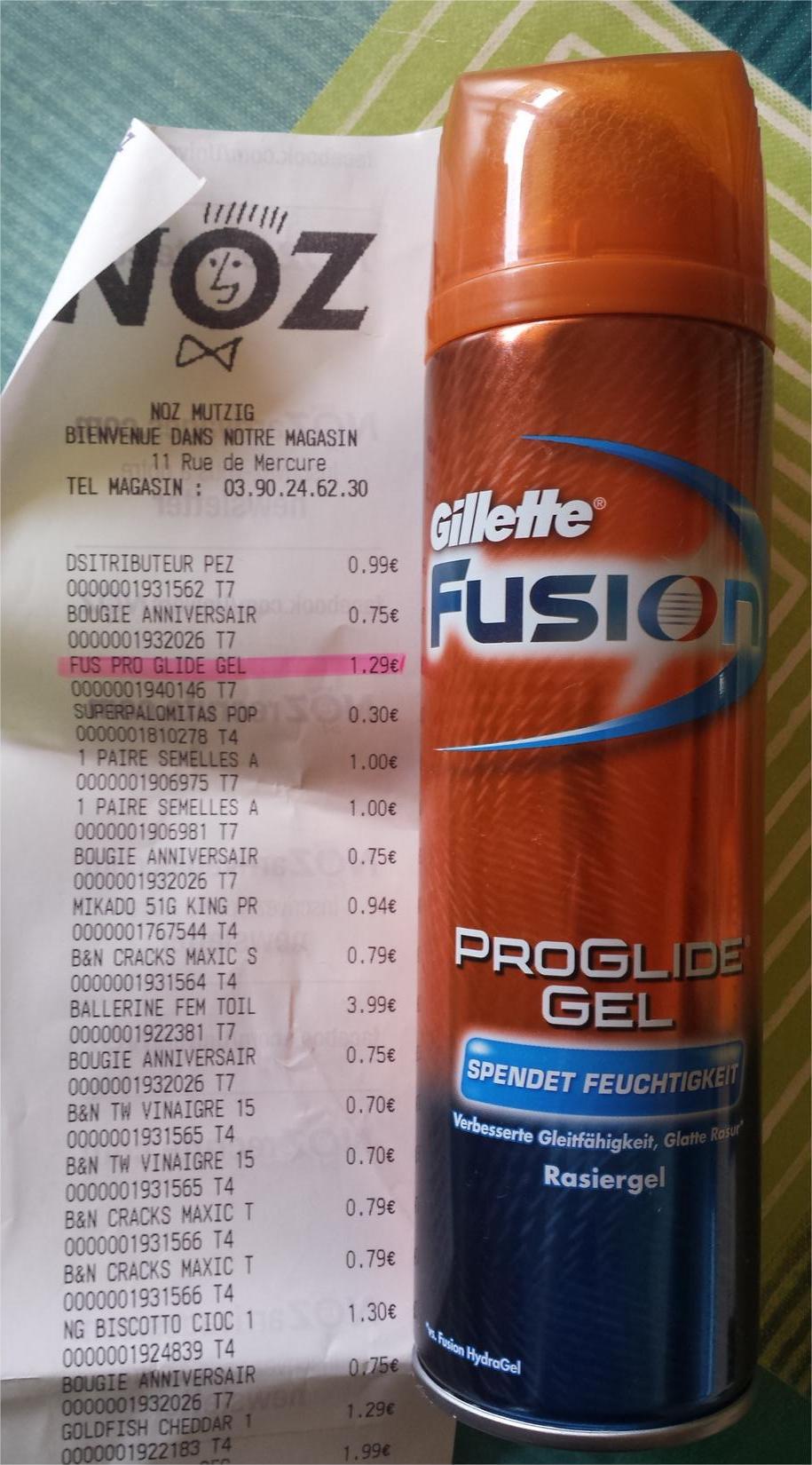 Gel à raser Gillette Fusion Proglide