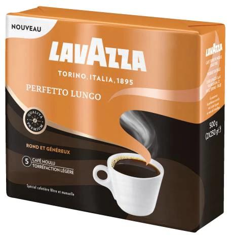 [Carte de Fidélité] Lot de 8 Paquets de Café Moulu Lavazza Perfetto Lungo - 8 x 250g (Via Shopmium)