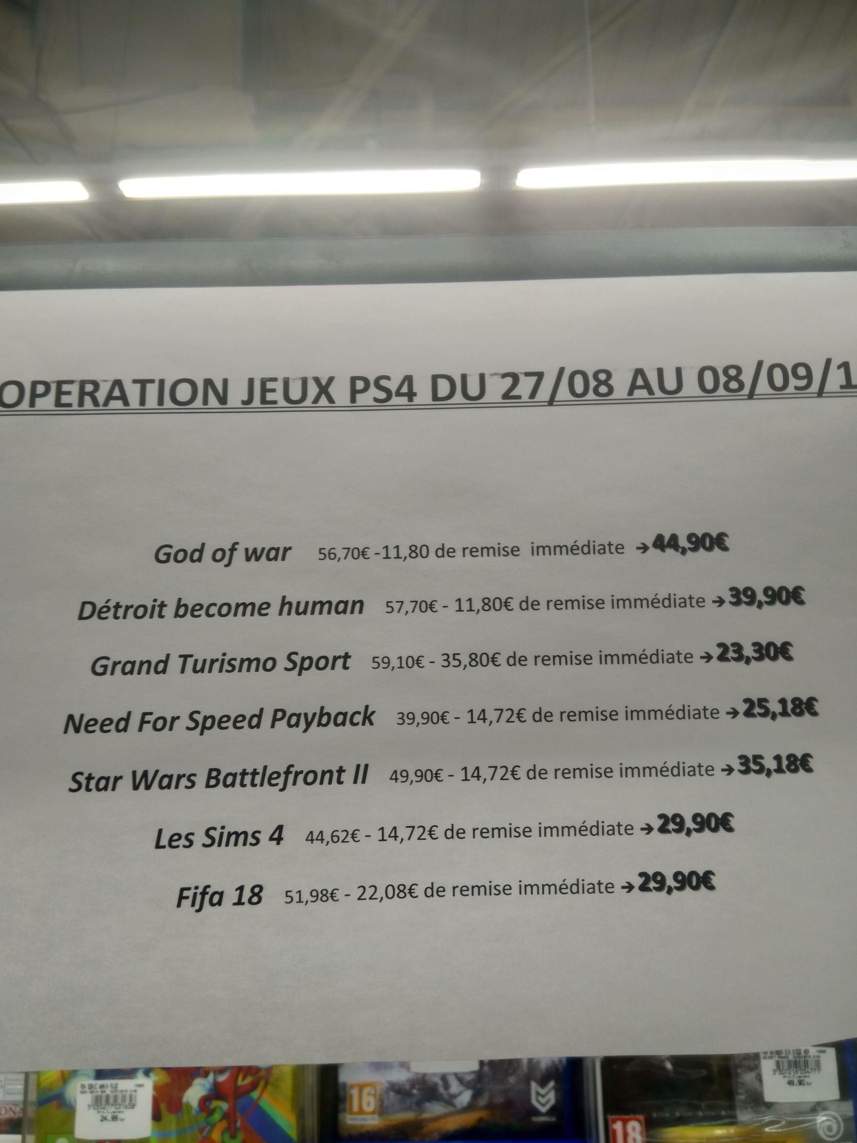 Sélection de jeux PS4 en promotion - Bollène (84)