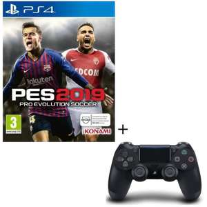 PES 2019 + Manette PS4 DualShock 4 Noire V2