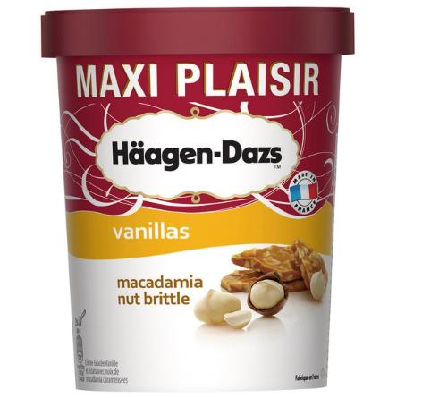 Lot de 3 Pots de Crème Glacée Häagen-Dazs Maxi Plaisir (Parfums au choix) - 3 x 567g
