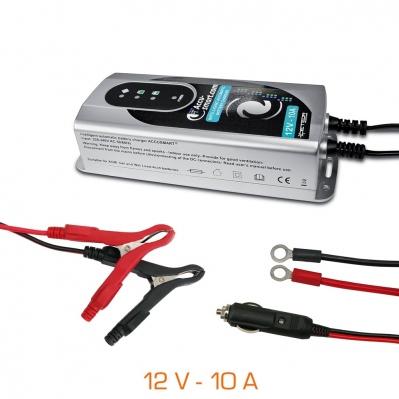 Chargeur de batteries Accu-Smart 12V - 10A  de 20Ah à 300Ah.