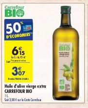 Bouteille d'Huile d'Olive Vierge Extra Bio - 1L (Via 50% sur la Carte de Fidélité) - Nice (06)