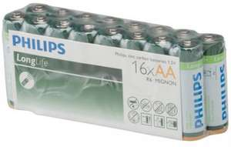 Pack de 16 Piles AAA ou AA Philips Longlife