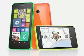 """Smartphone 4.5"""" Nokia Lumia 635, 4G - Noir (via ODR de 50€) + 25€ d'applications microsoft store"""