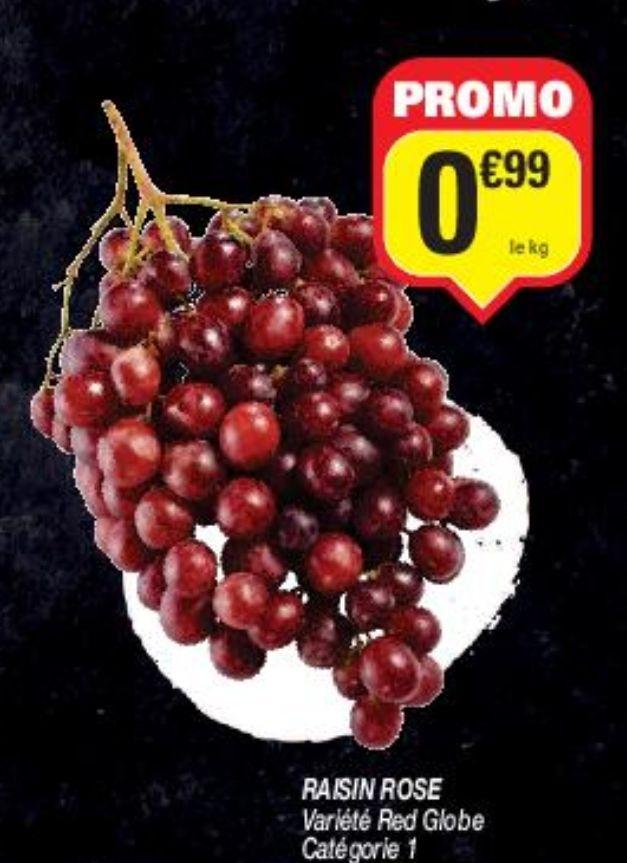 Raisin rose Red Globe ou raisin blanc Italia - cat. 1, origine Italie, le kg