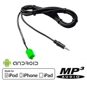 Câble auxiliaire MP3 pour autoradios Renault