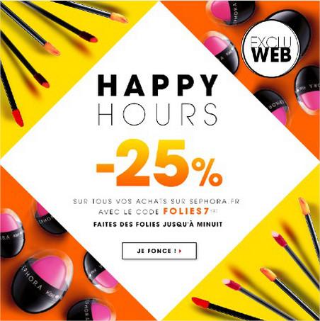 25% de réduction sur tous vos achats