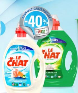 Bidons de lessive liquide Le Chat gratuits - différents types (via 4€ sur la carte de fidélité + BDR + Shopmium + Fidall)