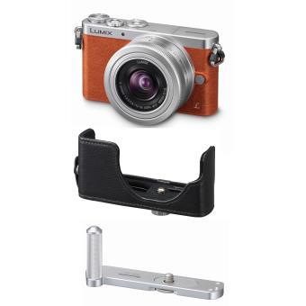 [Adhérents] Appareil photo hybride Panasonic Lumix GM1 Orange + 12-32mm + Poignée + Etui cuir numéroté