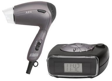 Jusqu'à 60 % de réduction sur une sélection de produits AEG - Ex: Sèche-cheveux de voyage pliable - 1300W + Radio réveil