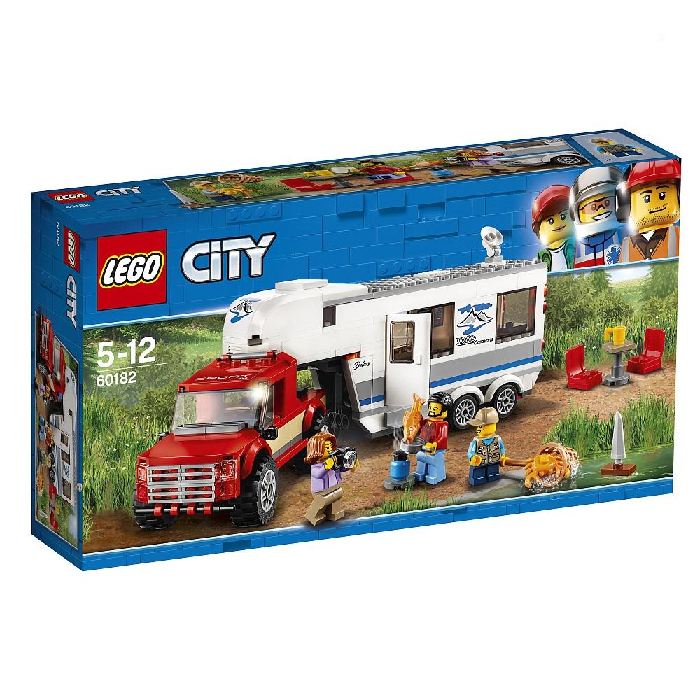 Jeu de construction Lego City - Le pick-up et sa caravane (60182)