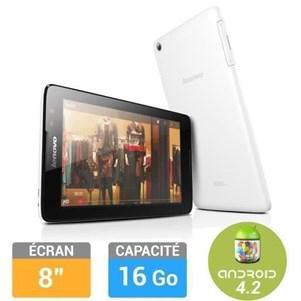 """Tablette 8"""" Lenovo A8-50 - 16Go - Blanc (via ODR de 30€)"""