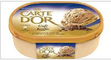Bac de glace Carte d'Or - Différents parfums (via 0,75€ sur la carte + BDR)