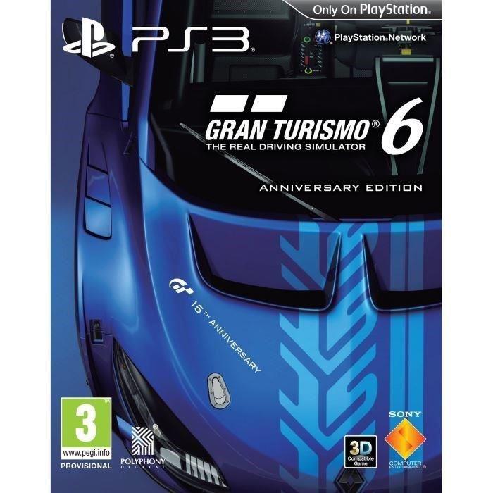 Jeu en boîte Gran Turismo 6 édition 15ème anniversaire sur PS3 offert pour toute commande