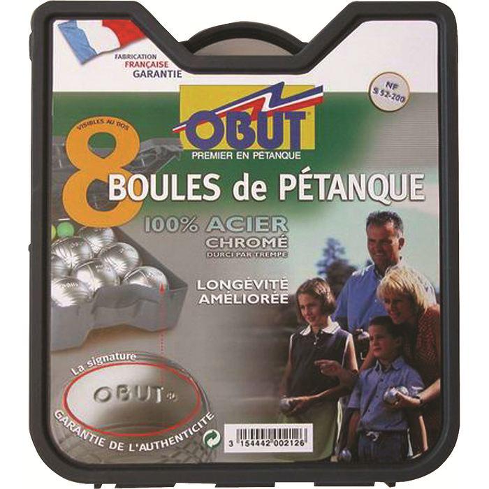 """Kit 8 boules de pétanque """"détente"""" OBUT"""