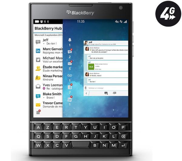 Smartphone Blackberry  Passport - noir - 4G - 32 Go