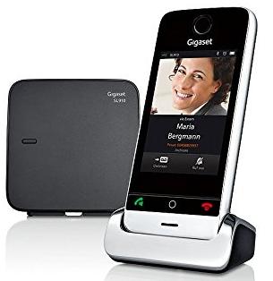 """Téléphone numérique sans fil Gigaset SL910 DECT - Ecran tactile couleurs 3,2"""" - Noir"""