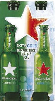 2 Packs de bière Heineken Extra Cold 4x 40 cl (via Shopmium)