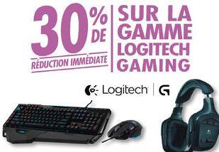 30% de réduction immédiate sur la gamme Logitech Gaming