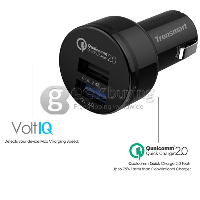 Chargeur rapide allume cigare Tronsmart 2 port USB