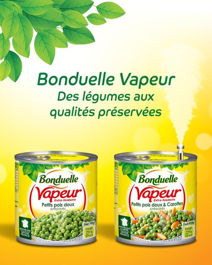 Sélection de conserves légumes vapeur Bonduelle 530g (petits-pois, petits-pois & carottes)