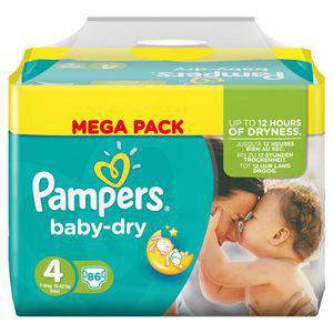 Couche Pampers Baby Dry (via 15€45 de remise fidélité)